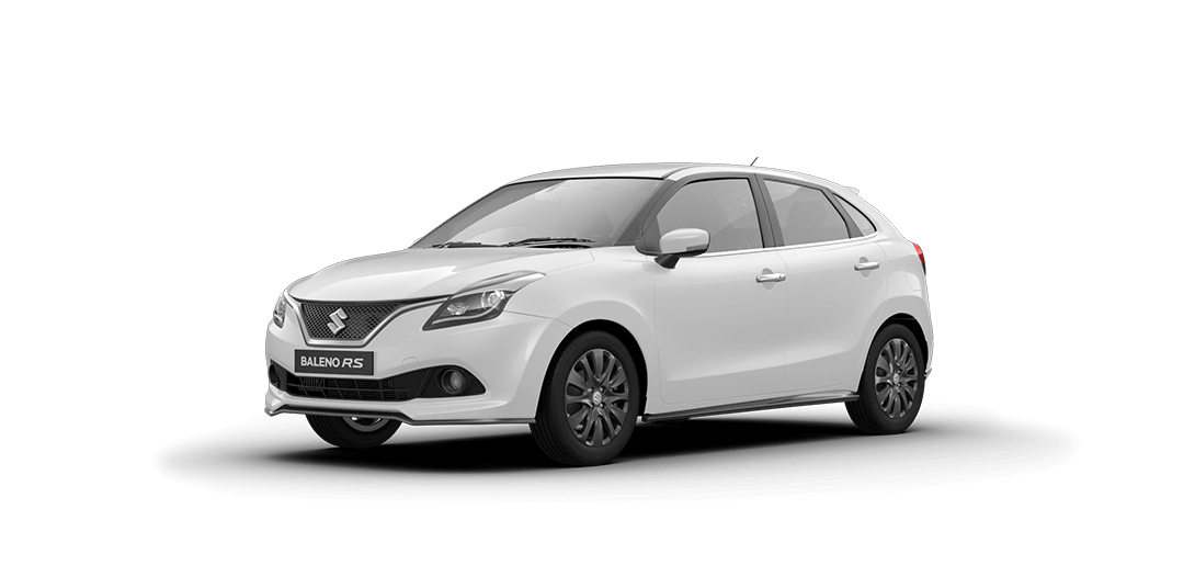 Baleno RS Arctic White Car Front Side View