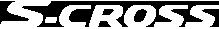 The All New S-Cross White Logo